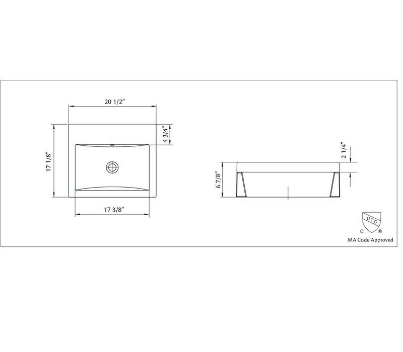 Cheviot - Camilla - Semi-recessed sink