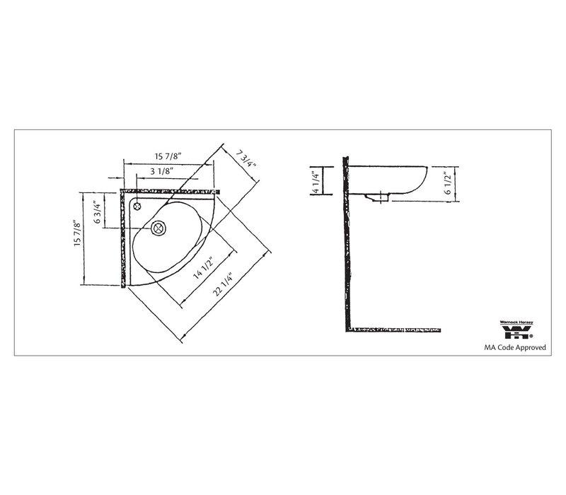 Cheviot - Duncan - Wall-mount Corner Sink