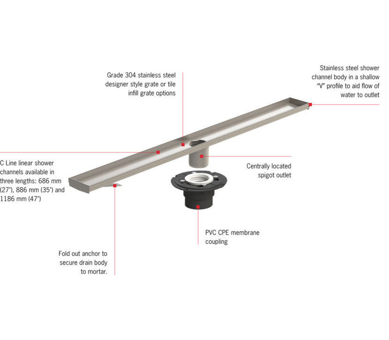 ACO - C Line - Slot Linear Drain