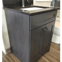 "Classic Brand - 24"" - Vanity Step Charcoal Grey Knobs - Display"