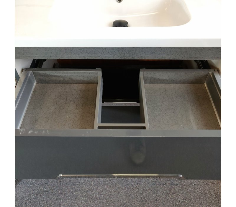 """Sonia - Play 32"""" Wall hung Vanity - Anthracite - Display"""