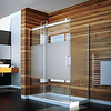 caml Caml Tomlin - Flow Rolling Shower Door 48 x 32 x74 - Chrome Clear - with return panel