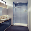 caml Caml Tomlin - Flow Rolling Shower Door 48 x 74 - Brushed Nickle - Clear