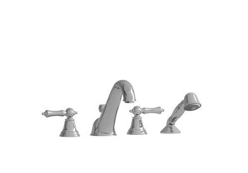 Riobel Riobel - Classic - 4-Piece Deckmount Tub Filler - Chrome Lever Handle