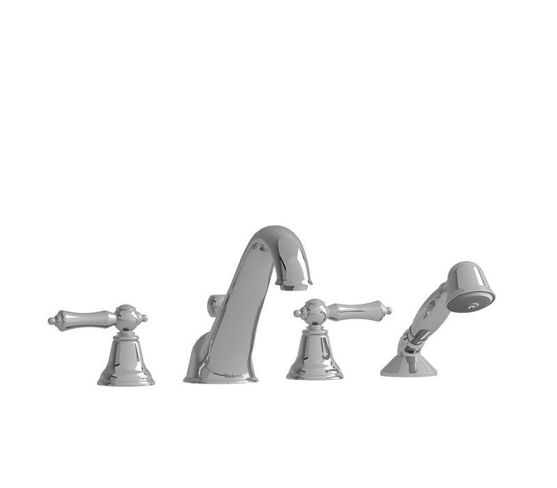 Riobel - Classic - 4-Piece Deckmount Tub Filler - Chrome Lever Handle
