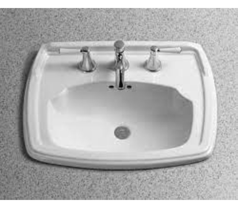 "Toto Carrollton 8"" hole spacing self rimming lavatory Cotton"