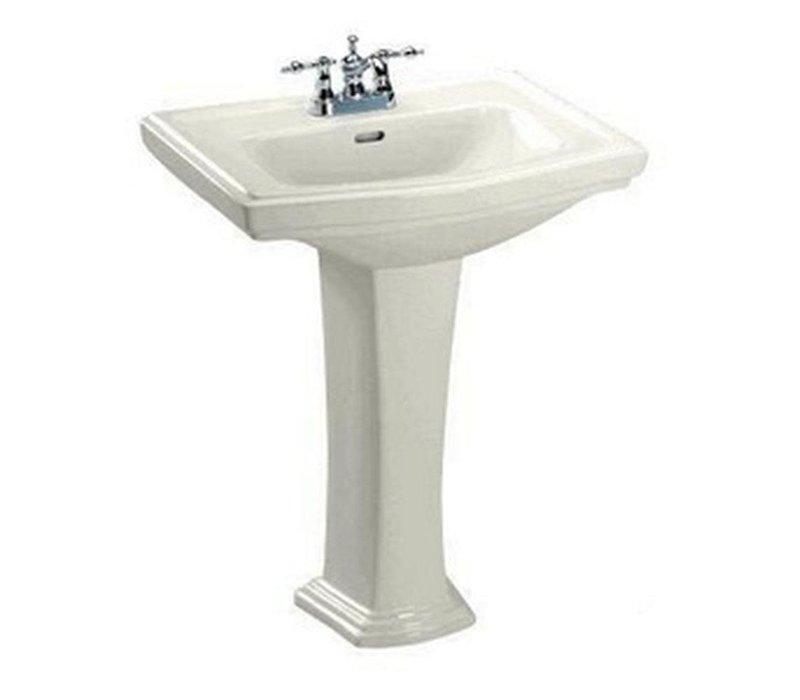 "Toto Clayton pedestal lavatory 8"" hole sedona beige"