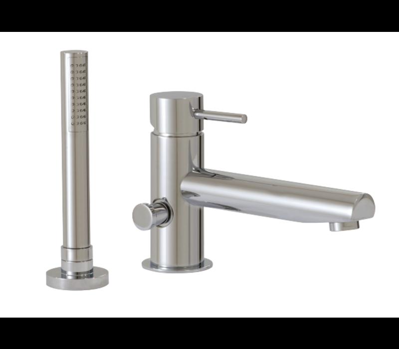 Aquabrass - Volare - 2PC Tub Filler W/Handshower - Chrome