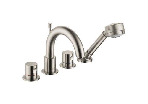 AXOR Hansgrohe - AXOR -  Uno 4 Hole Roman Tub Filler - Brushed Nickel