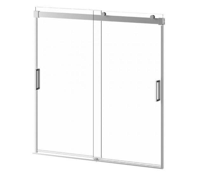 Kalia - AKCESS Bathtub Door 60'' x 60'' Chrome Clear Duraclean Glass