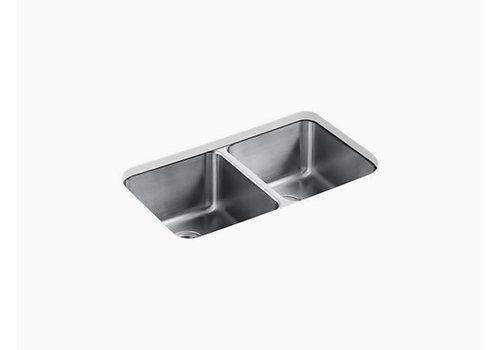 Kohler Undertone Preserve Double Equal Stainless Steel Sink