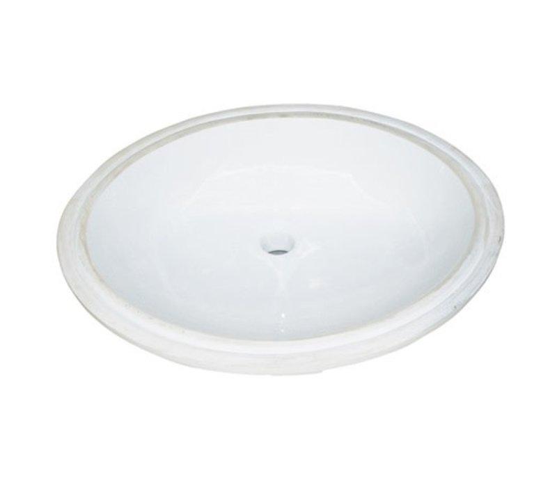 Fairmont Sinks White Oval Ceramic Undermount Sink