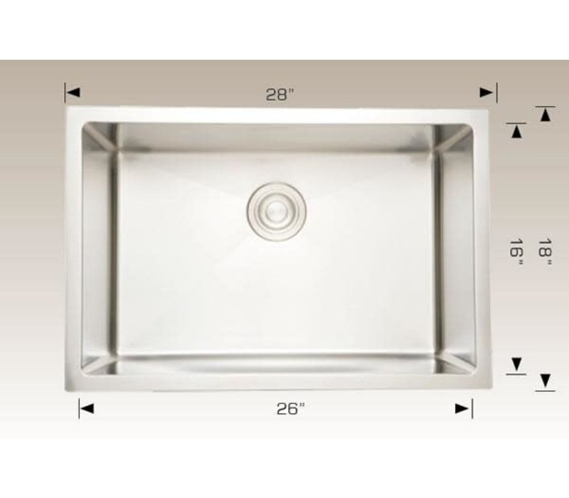 "Bosco - Titanium Series - Sink - 28""x18""x10"" - 203338"