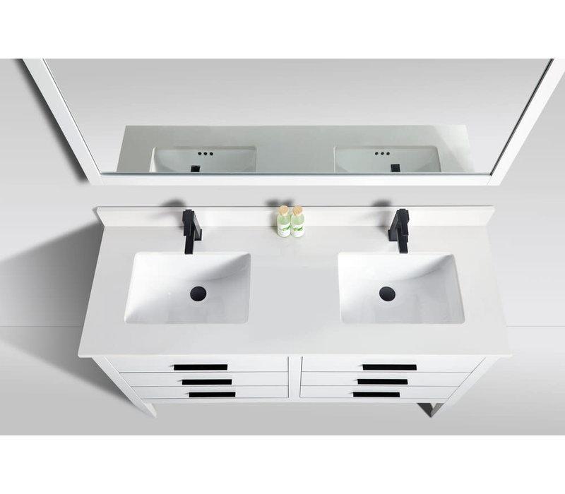 Bagno Italia - LONDON 60 -Double - Vanity + Quartz Top