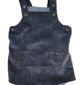 EURO CLUB COLLECTIONS HAIRY WOOL BABY ROMPER WITH RIBBED GREY