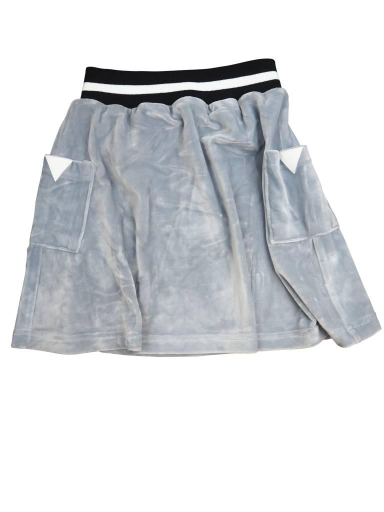 Crew Kids Short Velour Skirt Silver