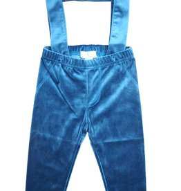 Whitlow & Hawkins Velvet Baby Boy Suspender Pants