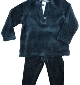 Whitlow & Hawkins Velour Ribbed Baby Boy Set Black