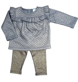 Whitlow & Hawkins Metallic Baby Girl Set