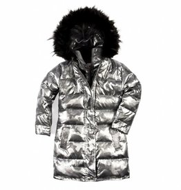Appaman Long Down Coat Gunmetal Camo