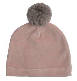 Mon Tresor Bebe Cozy Mittens Hat-Mauve