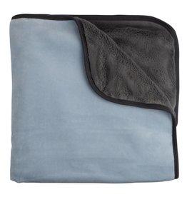 Mon Tresor Bebe Cozy Mittens Blanket Cashmere blue