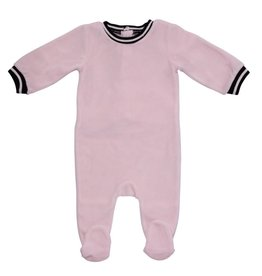 Mon Tresor Bebe Retro Sports Stripe Footie Pink