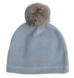 Mon Tresor Bebe Cozy Mittens Hat-cashmere blue