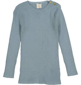 Lil leggs Ribbed Knit LS Top ss19 Aqua