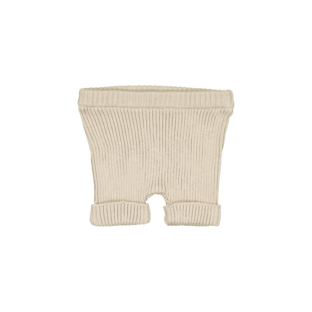 Lil leggs Ribbed Knit Shorts ss19 Sand