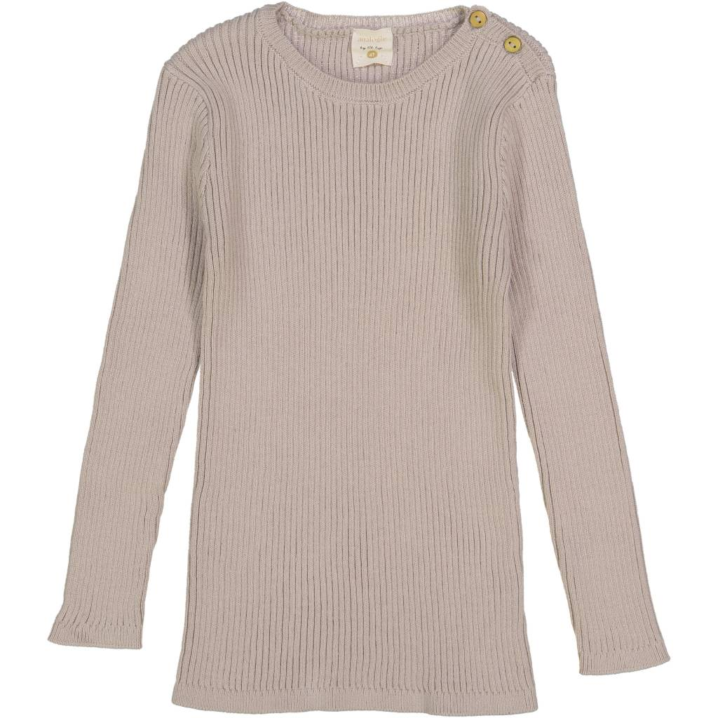 Lil leggs Ribbed Knit LS Top ss19 Sand