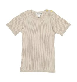 Lil leggs Ribbed Knit SS Top ss19 Sand