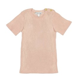 Lil leggs Ribbed Knit SS Top ss19 Blush