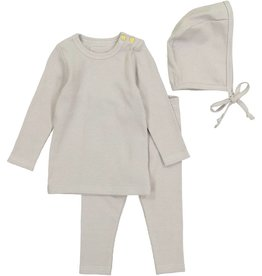 Lil leggs Ribbed Baby Set ss19 Grey
