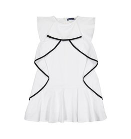 EURO CLUB COLLECTIONS SLEEVELESS DRESS WITH RUFFLED WHITE