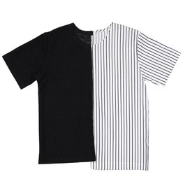Belati HALF N' HALF SHIRT WITH STRIPES AND BLACK