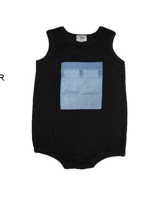 Crew Kids Denim Pocket Romper
