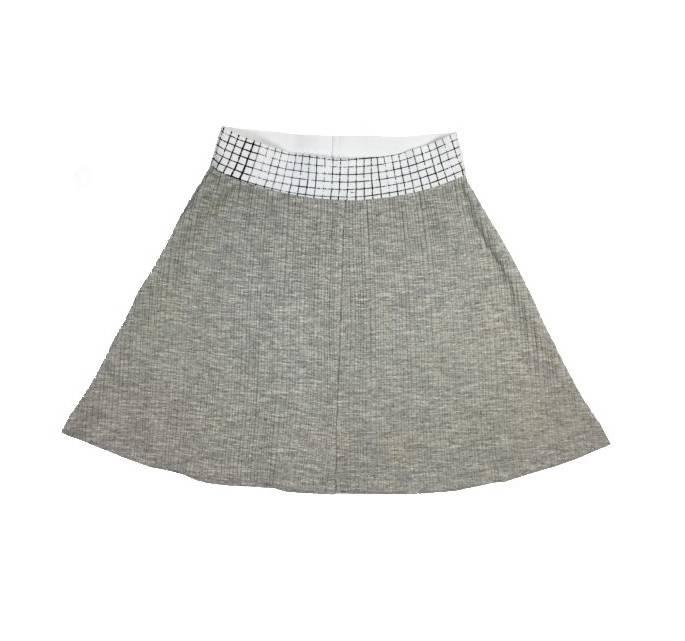 Crew Kids Rib Skirt Grey