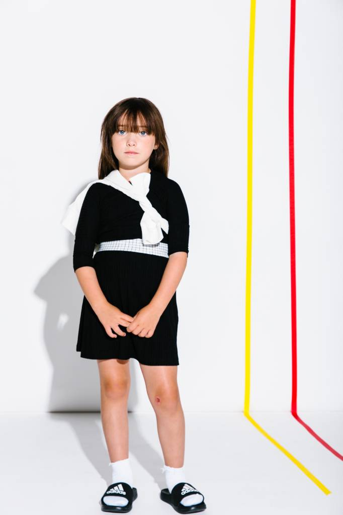 Crew Kids Rib Skirt Black