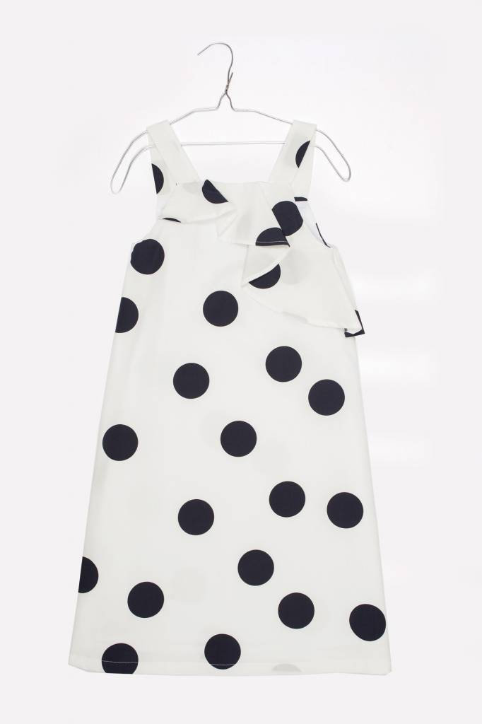 MOTORETA Lisa Dress Polka dots white