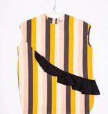MOTORETA PAULA DRESS Multicolor stripes/black