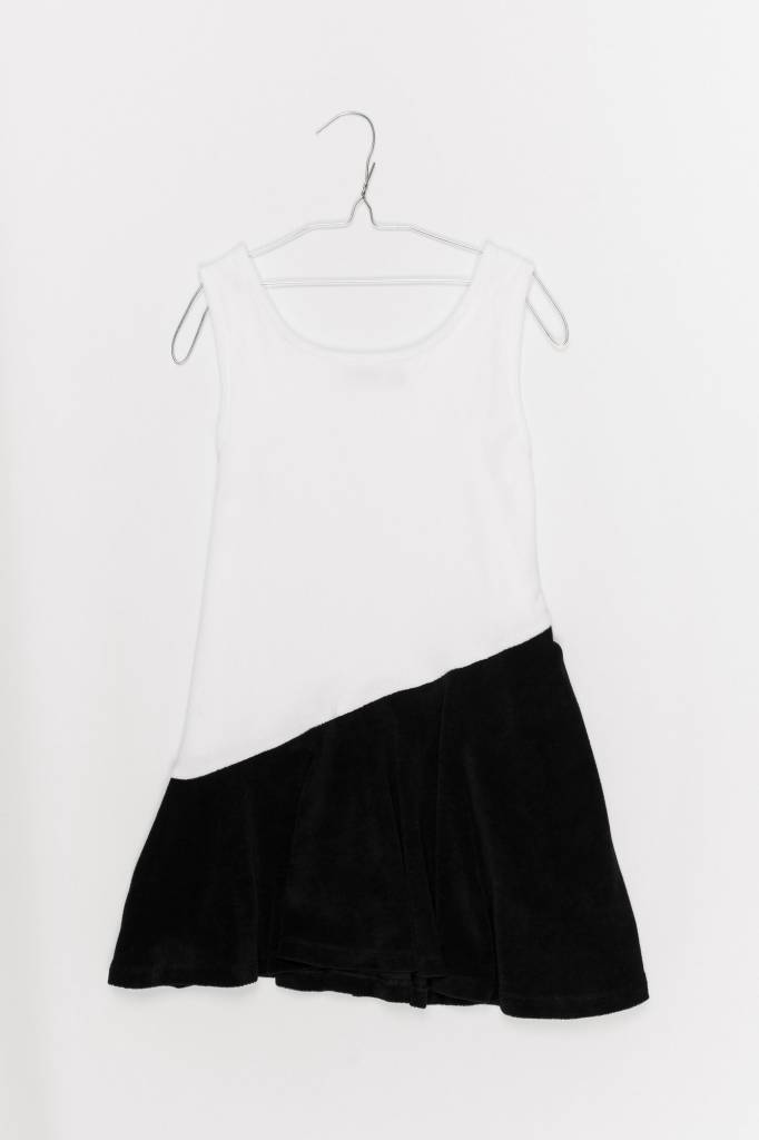 MOTORETA NINA DRESS White & black