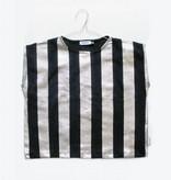 MOTORETA AGUADULCE T-SHIRT Black & silver stripes