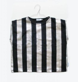MOTORETA AGUADULCE T-SHIRT Black & silver stripes