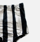 MOTORETA ROSE SHORTS Black & silver stripes
