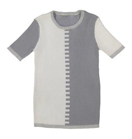 Belati TONAL HALF & HALF KNIT WITH RIBBED GREY