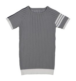 Belati SHORT SLEEVE RIBBED KNIT WITH ARM GREY