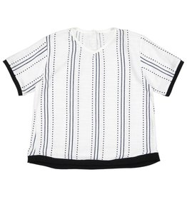 Belati BOXY SHIRT WITH ALL OVER PRINT AND WHITE