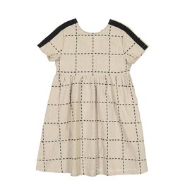 Belati PLAID EMBROIDERED DRESS WITH BEIGE