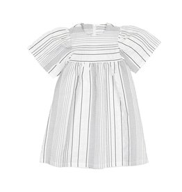 Belati STRIPED DRESS WITH FULL SLEEVES WHITE